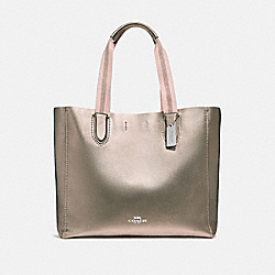 LARGE DERBY TOTE - f59388 - ROSE GOLD/SILVER
