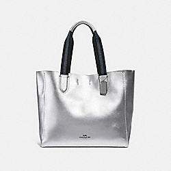 COACH F59388 Large Derby Tote METALLIC SILVER/SILVER
