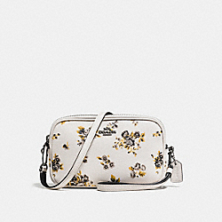 CROSSBODY CLUTCH WITH PRAIRIE PRINT - f59390 - PRAIRIE PRINT CHALK/DARK GUNMETAL