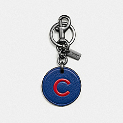 COACH F59409 Mlb Key Fob In Leather CHI CUBS