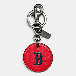 COACH F59409 Mlb Key Fob In Leather BOS RED SOX