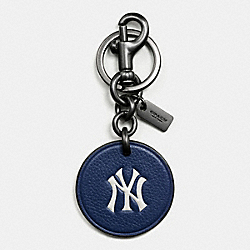 COACH F59409 Mlb Key Fob In Leather NY YANKEES