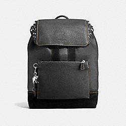 COACH F59416 - MANHATTAN BACKPACK WITH STUDS BLACK/DARK NICKEL