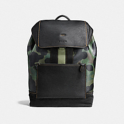 COACH F59417 Manhattan Backpack With Wild Beast Print MILITARY WILD BEAST/BLACK/BLACK
