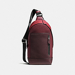 COACH F59419 - MANHATTAN SLING PACK BRICK RED/CHERRY/BLACK ANTIQUE NICKEL