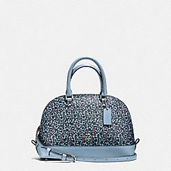 MINI SIERRA SATCHEL IN RANCH FLORAL PRINT COATED CANVAS - f59443 - SILVER/MIST