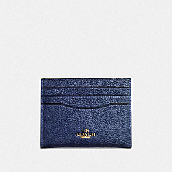 COACH F59462 - CARD CASE METALLIC BLUE/GOLD