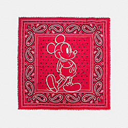 COACH F59464 Mickey Prairie Bandana Oversized Square Scarf RED