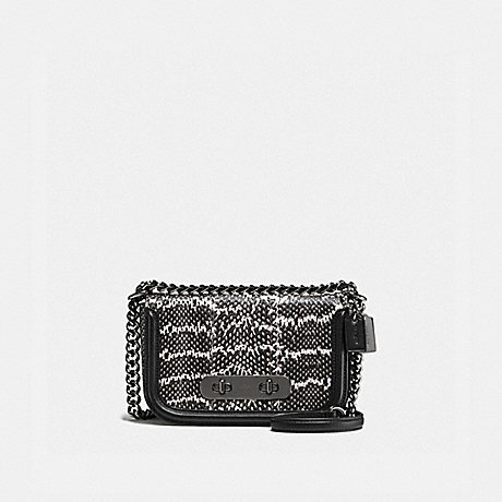 COACH F59493 COACH SWAGGER SHOULDER BAG 20 IN SNAKESKIN DK/CHALK-BLACK