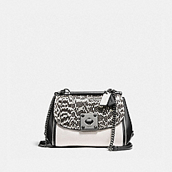 DRIFTER CROSSBODY IN SNAKESKIN - f59498 - Chalk/Black/Dark Gunmetal