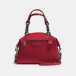 CHAIN PRAIRIE SATCHEL - f59501 - Cherry/Dark Gunmetal