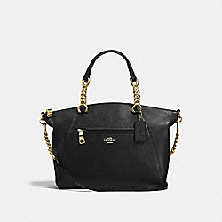 COACH F59501 Chain Prairie Satchel BLACK/LIGHT GOLD