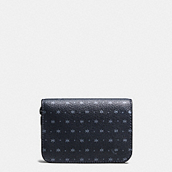 GROOMING KIT IN STAR DOT PRINT COATED CANVAS - f59518 - MIDNIGHT NAVY