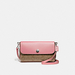 COACH F59534 - REVERSIBLE CROSSBODY SILVER/KHAKI BLUSH 2