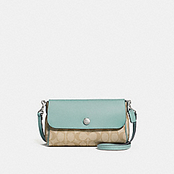 REVERSIBLE CROSSBODY IN SIGNATURE CANVAS - f59534 - SVNKA