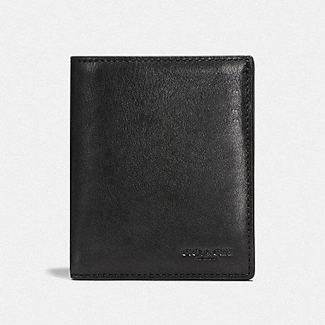 COACH F59671 SLIM COIN WALLET BLACK