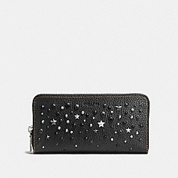 ACCORDION WALLET WITH MIXED STUDS - COACH F59720 - BLACK