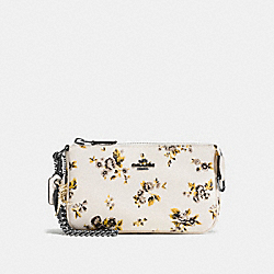 NOLITA WRISTLET 19 WITH PRAIRIE PRINT AND REBEL CHARM - f59745 - PRAIRIE PRINT CHALK/DARK GUNMETAL