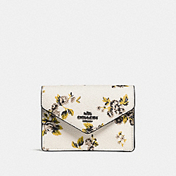ENVELOPE CARD CASE WITH PRAIRIE PRINT - f59746 - PRAIRIE PRINT CHALK/DARK GUNMETAL