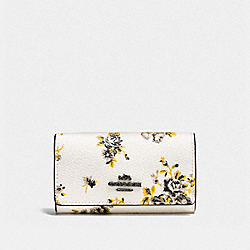 COACH F59748 Six Ring Key Case With Prairie Print DK/PRAIRIE PRINT CHALK