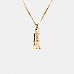 MINI 18K GOLD PLATED ROCKET NECKLACE - GOLD - COACH F59754