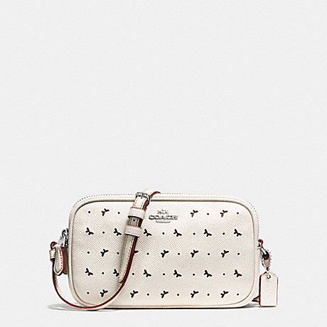 Coach F59792 Crossbody Pouch In Perforated Crossgrain