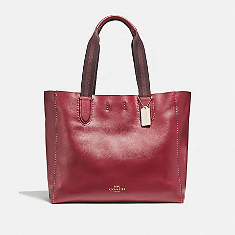 COACH F59818 LARGE DERBY TOTE CHERRY-/LIGHT-GOLD