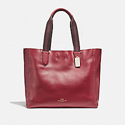 COACH F59818 Large Derby Tote CHERRY /LIGHT GOLD