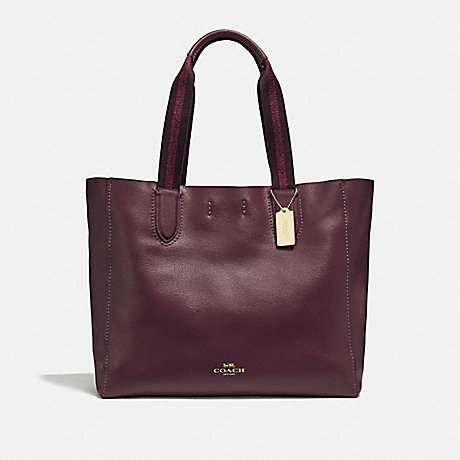 COACH F59818 LARGE DERBY TOTE IM/RASPBERRY