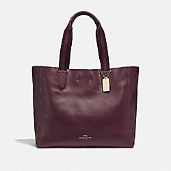LARGE DERBY TOTE - F59818 - IM/RASPBERRY