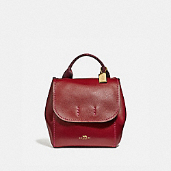 COACH F59819 - DERBY BACKPACK CHERRY /LIGHT GOLD
