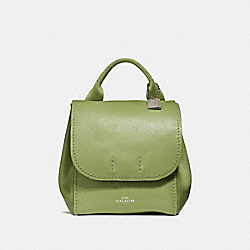 COACH F59819 Derby Backpack YELLOW GREEN/SILVER