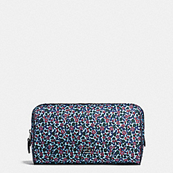 COACH F59829 - COSMETIC CASE 22 IN RANCH FLORAL PRINT NYLON BLACK ANTIQUE NICKEL/MIST