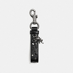 COACH F59861 Studded Charm Loop Bag Charm BLACK/BLACK