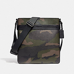 CHARLES CROSSBODY IN CAMO PRINT COATED CANVAS - f59894 - BLACK ANTIQUE NICKEL/DARK GREEN CAMO