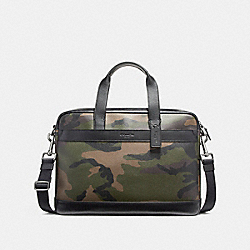 HAMILTON BAG IN CAMO PRINT COATED CANVAS - f59896 - BLACK ANTIQUE NICKEL/DARK GREEN CAMO