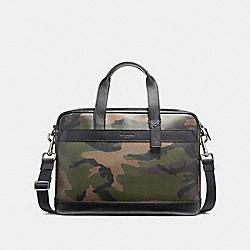 COACH F59896 - HAMILTON BAG IN CAMO PRINT COATED CANVAS BLACK ANTIQUE NICKEL/DARK GREEN CAMO