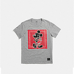 COACH F59902 Mickey Prairie Bandana T-shirt GRAY