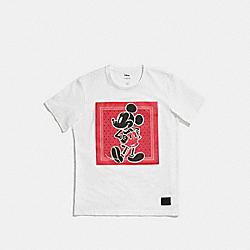 COACH F59902 Mickey Prairie Bandana T-shirt WHITE