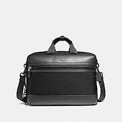 COACH F59944 Terrain Convertible Backpack In Mixed Materials BLACK ANTIQUE NICKEL/BLACK/BLACK