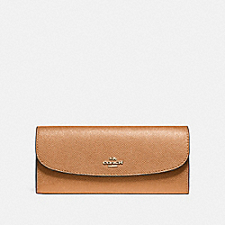 COACH F59949 Soft Wallet LIGHT SADDLE/LIGHT GOLD