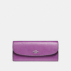 COACH F59949 Soft Wallet SILVER/BERRY
