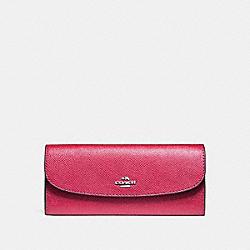 COACH F59949 Soft Wallet SILVER/MAGENTA