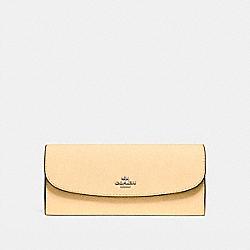 COACH F59949 Soft Wallet VANILLA/SILVER