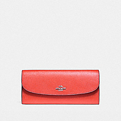 COACH F59949 Soft Wallet SILVER/WATERMELON
