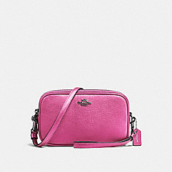SADIE CROSSBODY CLUTCH - F59952 - METALLIC ROSE/DARK GUNMETAL