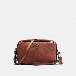COACH F59952 - CROSSBODY CLUTCH MATTE BLACK/METALLIC RUST