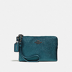 COACH F59953 Small Wristlet DARK GUNMETAL/METALLIC MINERAL