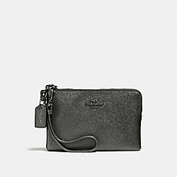 COACH F59953 Small Wristlet SILVER/METALLIC GRAPHITE