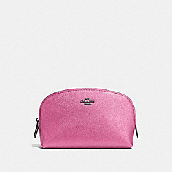 COACH F59957 - COSMETIC CASE 17 METALLIC BLUSH/DARK GUNMETAL